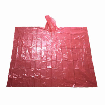 waterproof plastic disposable raincoats/rain poncho stock