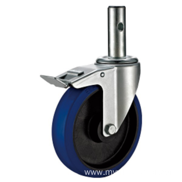 5inch Round Stem Quality Industrial Castors With Brake