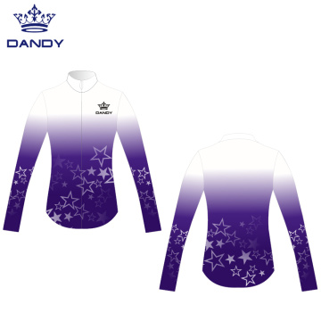 Customized sublimation cheer warm up jackets