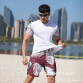 Digital Print with Leaves Waistband for Swimming Short
