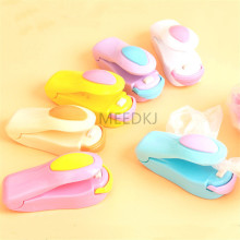 6 colors portable micro sealing machine household food protector plastic bag is convenient for kitchen gadgets to be re sealed