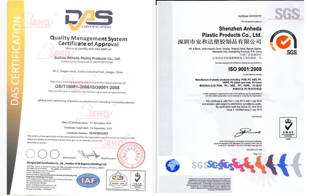 HDPE Board Black Certification