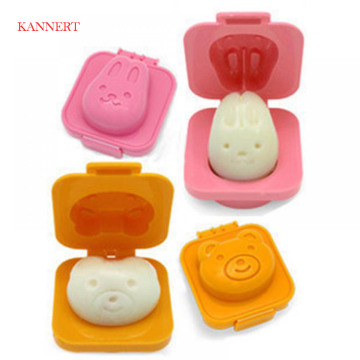 Boiled Egg Mold Cute Cartoon 3D Egg Ring Mould Bento Maker Cutter Decorating Egg Tool
