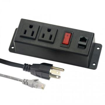 US Dual Power Outlets With Internet Ports&Switch