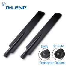 1 pair Dlenp 2.4Ghz Wireless WIFI Router Antenna Aerial Booster 18 dbi SMA/ RP-SMA Optional AP Bridge WLAN Router Connector