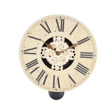 Retro Wooden 14 Inch Pendulum Gear Wall Clock
