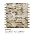 Hazy luxury mosaic art wall glass tiles