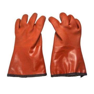 Brown cashmera lined gloves 30cm