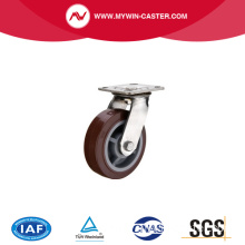 Heavy duty polyurethane stainless steel caster