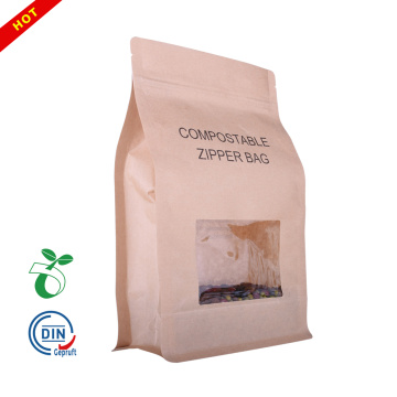 Eco-Friendly Biodegradable flat bottom paper Coffee Bags