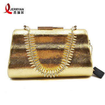 Gold Evening Clutch Bags for Fashion Women