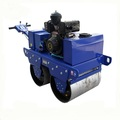 Double drum variable plunger pump road roller