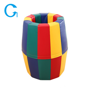 Kids Soft Play Foam Rainbow Barrel Foam Mat