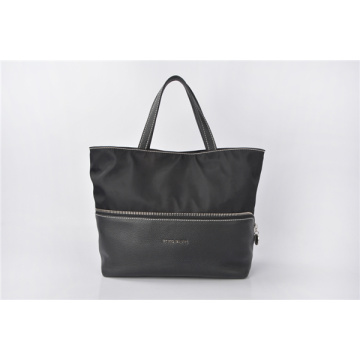 Ella Patent Tessuto Soft Nylon & Leather Tote