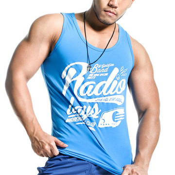 Custom OEM Supply Cotton Fitness Men Gym Stringer Vest