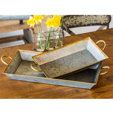 Large Beverage Metal Party Serving Tray