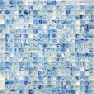 Transparent like a blue mirror modern mosaic Tiles
