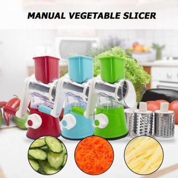 Multi-functional Manual Slicer Vegetable Fruit Round Cutter Shred Grater for Vegetable Shredder Household Kitchen Food Processor
