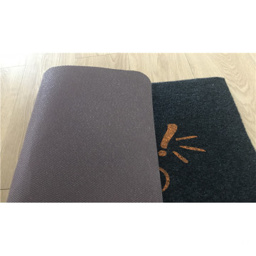 Anti-slip pvc backed indoor outdoor mat polyester carpet