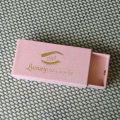 Customized glitter pink eyelash box