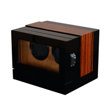 wolf double watch winder with storage (brushed metal)