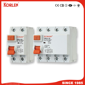 KORLEN safety Residual Current Circuit Breaker 30mA,100mA,300mA RCCB with IEC/EN61008-1