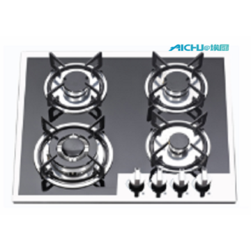 4 Burners Tempered Glass Homeused Cooktop