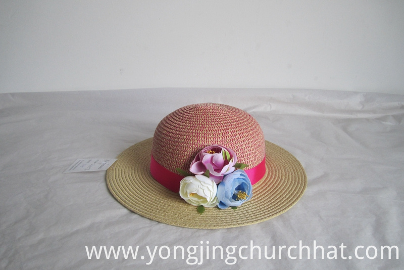 Flower Trimmed Sun Hat