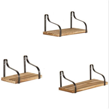 3 pcs/SET solid wood hanging wall shelf with bracket