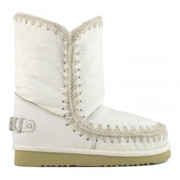 Moug winter shoes women snow boots original eskimo 24 rhinestones logo handmade sheepskin platform ladies ankle botas