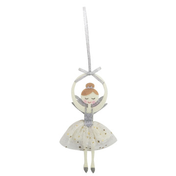 Christmas ornament with dancing girl pattern