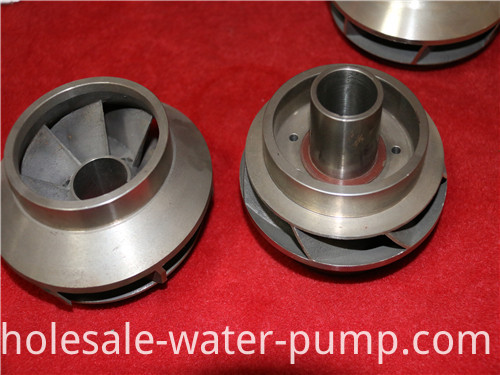Precision submersible electric pump blade guide wheel