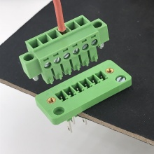 6 pin through wall mounting pluggable terminal block