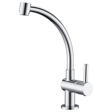 Gooseneck sink mixer cold water only for kitchen