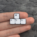 WASD PS LR AI computer game software Enamel needle Keyboard Brooch cup cartoon lapel pin badge gift for friends who like plants