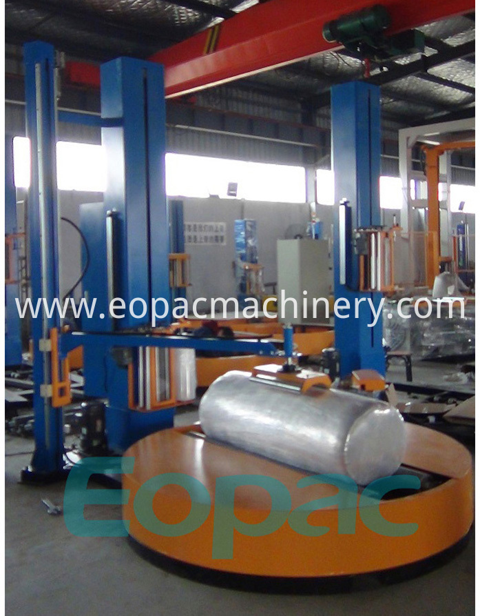 Roller wrapping machinery