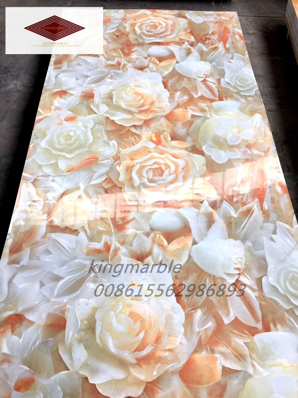 Easy installation marble  pvc wall panels for  hotel
