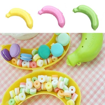 3 Colors Fruit Banana Qualified Cute Protector Box Holder Case Lunch Container Storage Box For Kids Protect Fruit Case