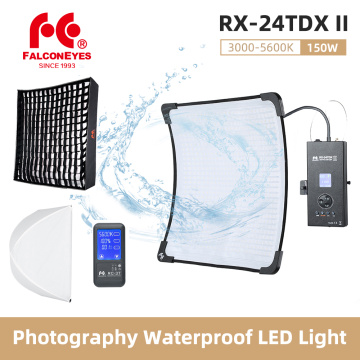 Falcon Eyes RX-24TDX II 150W Photography Waterproof LED Flex Light Bi-color 3000K-5600K with RX-18SBHC for Video Camera