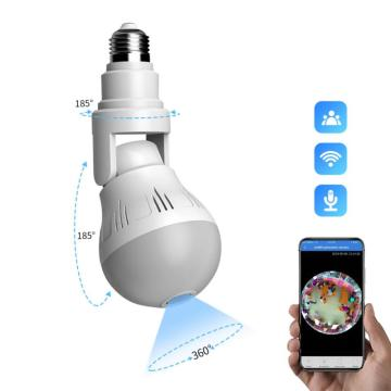 360° Panoramic Wifi Camera Smart Home E27 Light Bulb Hd 1080P Security Camera Built In Noise Reduction Microphone And Speaker