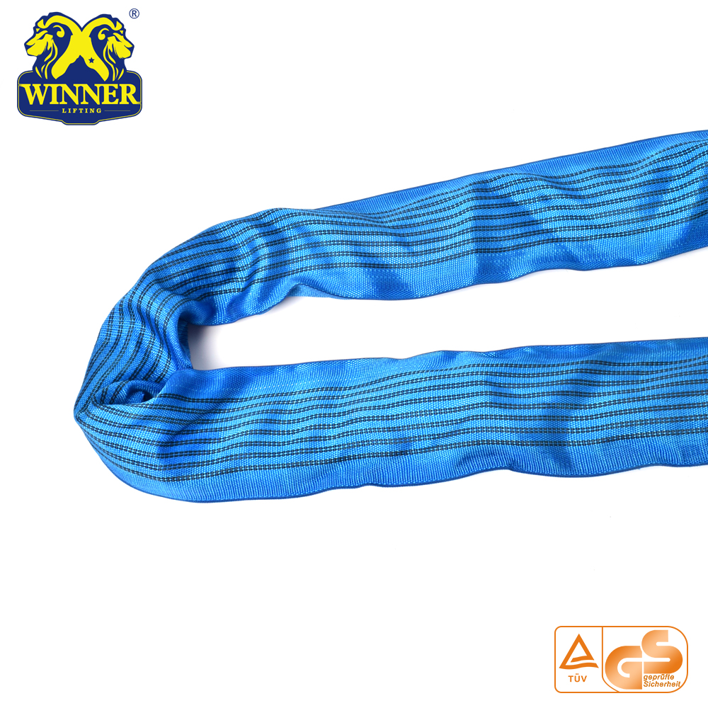 8T Heavy Duty  Polyester Round Sling Lifting Belt Sling