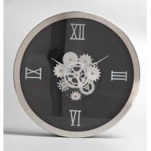 Flower Gear Metal Wall Clock