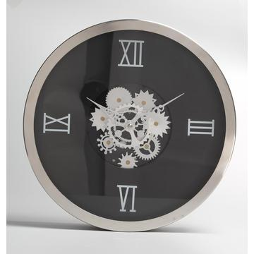 Metal Flower Gear Wall Clock