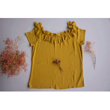 Women Yellow Color Short Shirts