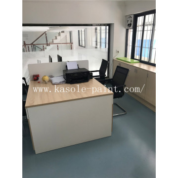 Office epoxy color sand floor