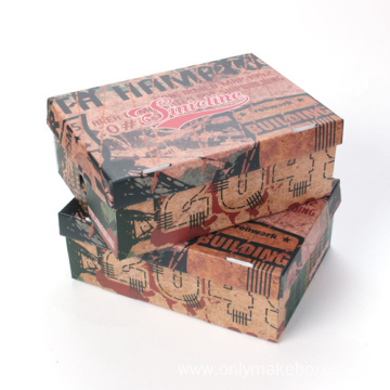 Custom Printing Logo Cardboard Shoes Box New Design