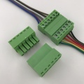 6pin contacts of wire mounting plug-in terminal block