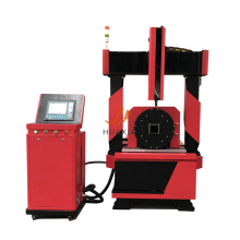 CNC square pipe plasma cutting machine for tube