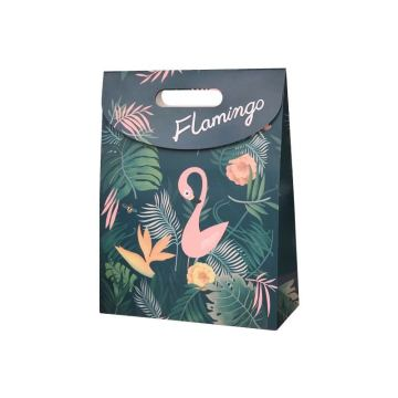 Foldable Gift Bags Printed Flamingo