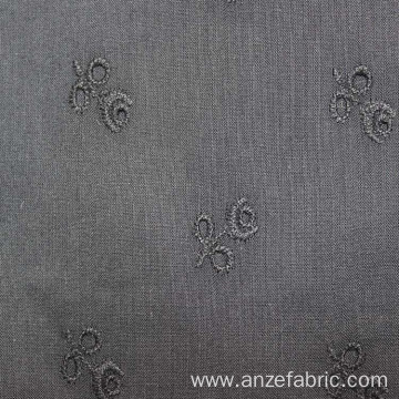 100% grey cotton lawn eyelet lace embroidery fabric